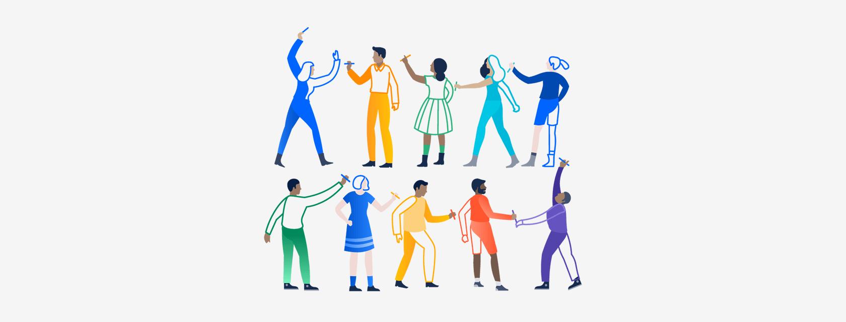 2B 产品的插画规范:来自协同办公产品头部公司 Atlassian