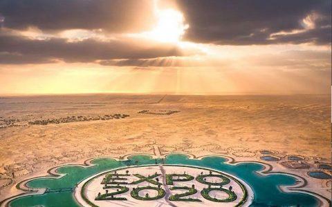迪拜花巨资在沙漠打造世博会LOGO ,有钱人就是任性!
