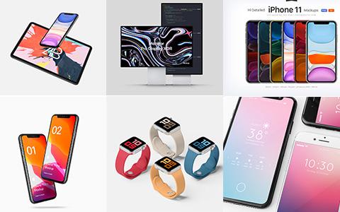 「精选」上百款手机、电脑、平板等样机素材模板免费下载